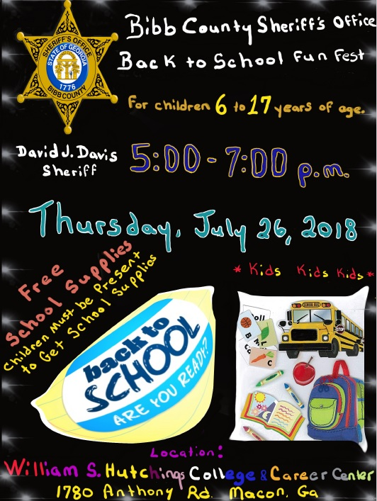 Bibb County Sheriff's Office Back To School Fun Fest | bibbsheriff us